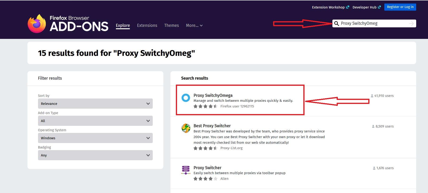تنظیمات پروکسی در فایرفاکس
