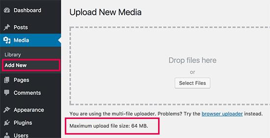 حداکثر file upload size در وردپرس