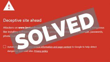 رفع خطای Deceptive Site Ahead در سایت