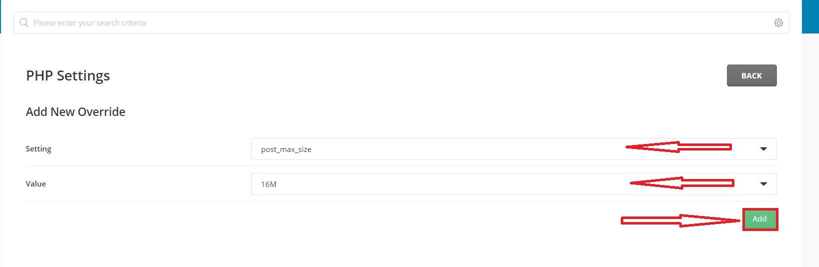 تغییر کانفیگ PHP در دایرکت ادمین