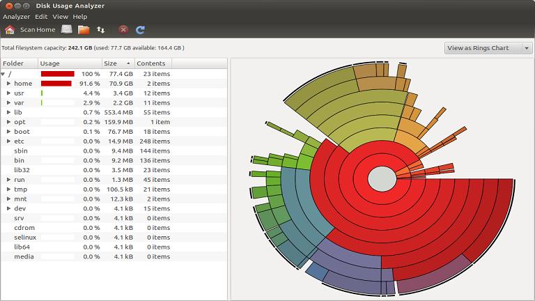 مشاهده میزان مصرف فضای دیسک در سی پنل هاست لینوکس
