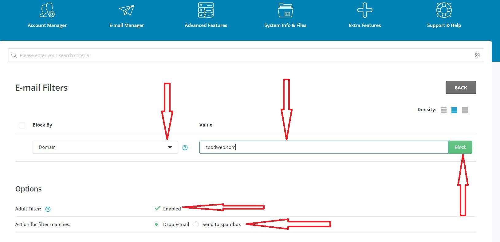 آموزش تنظیم Spam Filter در دایرکت ادمین