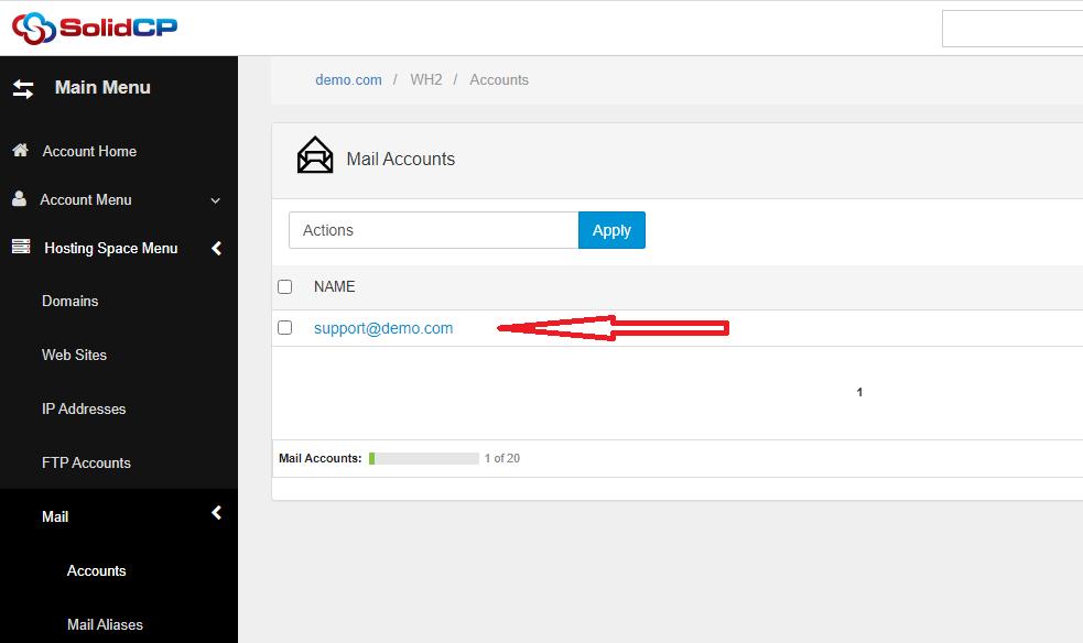 forward کردن آدرس ایمیل در SolidCP هاست ویندوز