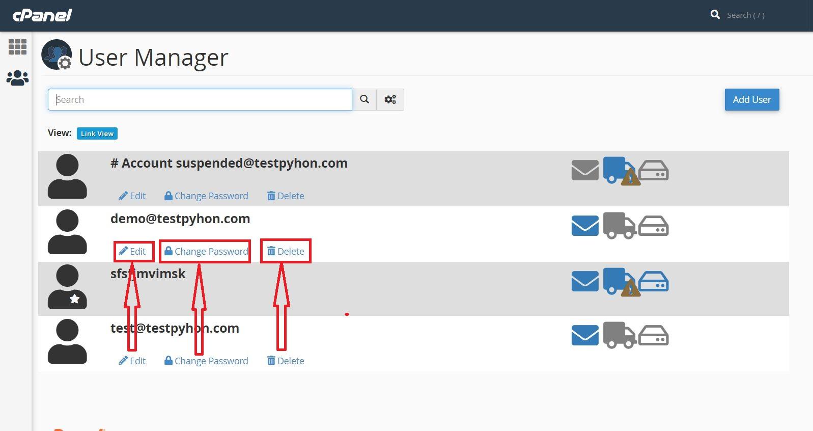 آموزش User Manager در cPanel