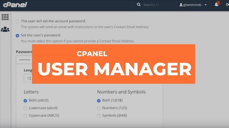 مدیریت کابران (User Manager) در سی پنل هاست لینوکس