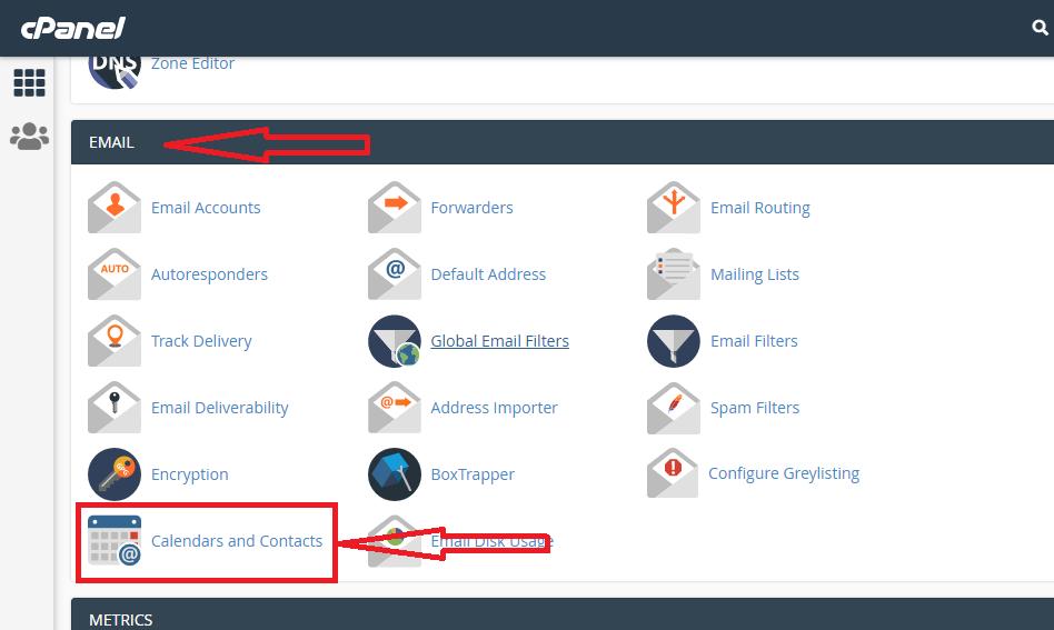 استفاده از Calendars and Contacts در سی پنل هاست لینوکس