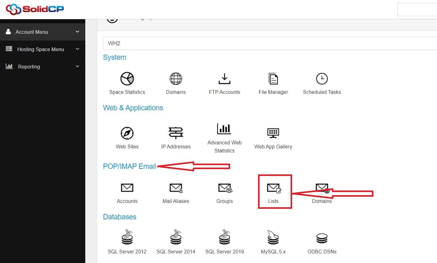 ارسال ایمیل گروهی در SolidCP هاست ویندوز