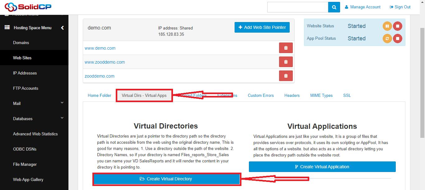 راهنمای آموزش ساخت Virtual Directoryدر SolidCP