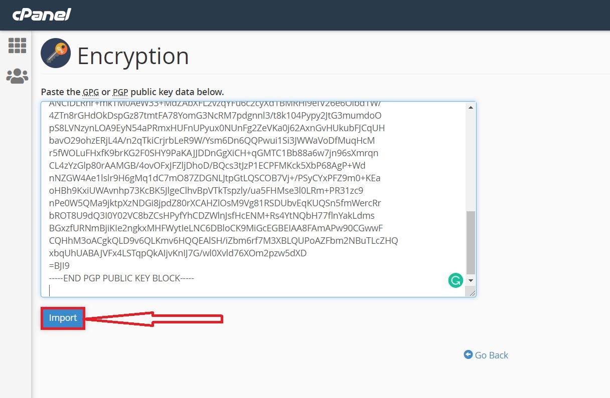 استفاده از رمزگذاری ایمیل با Encryption در سی پنل هاست لینوکس