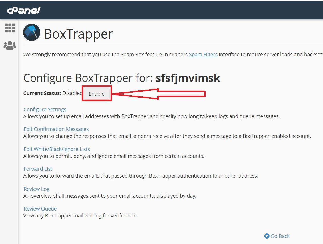 راهنمای استفاده از BoxTrapper در سی پنل هاست لینوکس