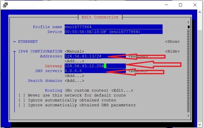 راهنمای تنظیمات شبکه به صورت گرافیکی در لینوکس