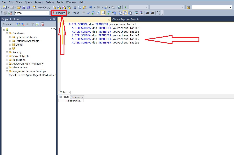 راهنمای تغییر schema و Store Procedures در MSSQL در ویندوز