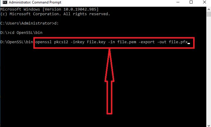 تبدیل فرمت گواهینامه SSL