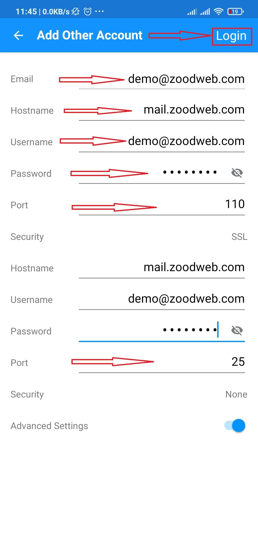 فعال کردن ایمیل در گوشی android
